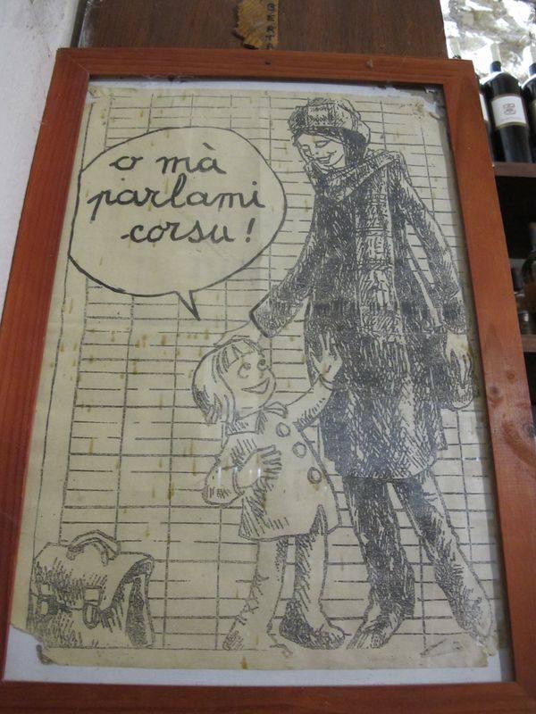 Affiche ancienne langue corse